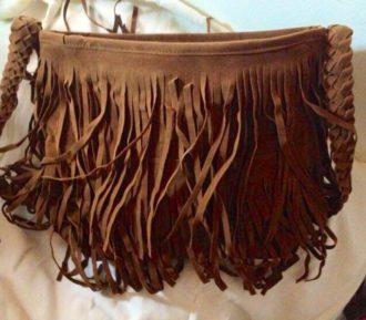 Brown Purse Fringe